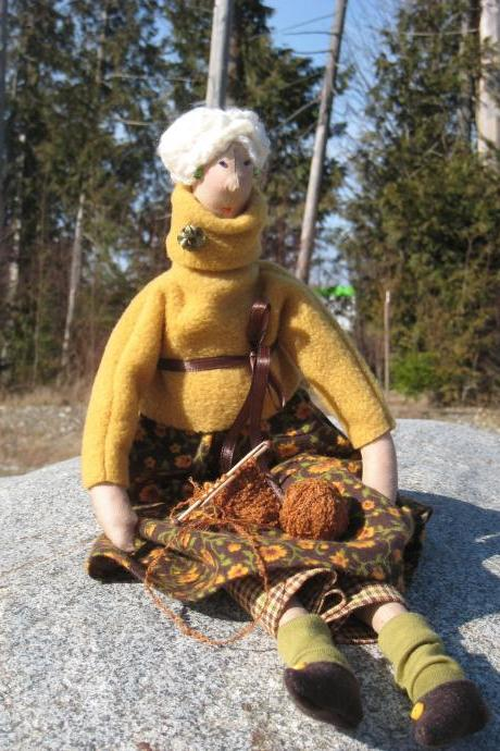 Autumn Decor Cloth doll Agrippina