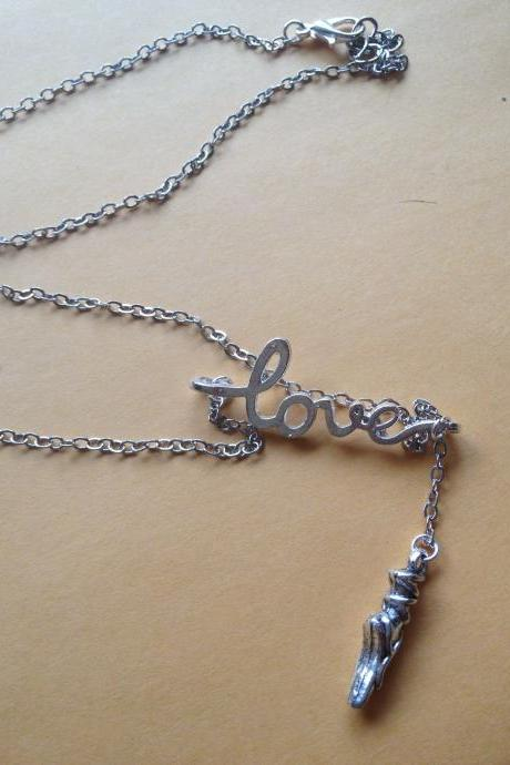 Love To Dance Drop Necklace
