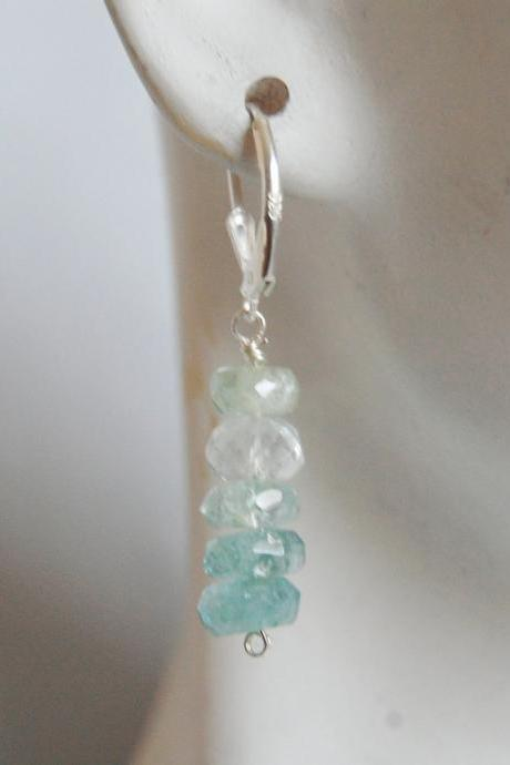 Ice Blue Aquamarine dangle earrings