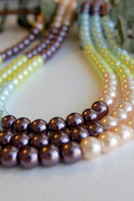Colorful Spring Pearls Necklace