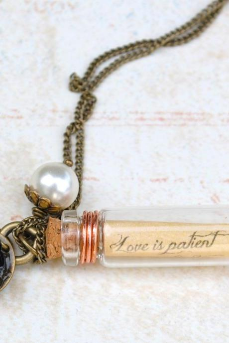 Personalized Message In a Bottle Necklaces,Bridesmaid Gifts,Friendship,Set of Two Necklaces
