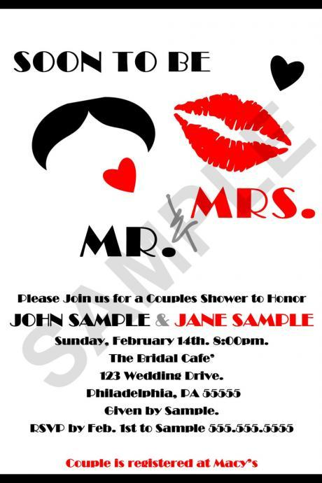 Couples Wedding Shower Invitation (Digital File) DIY