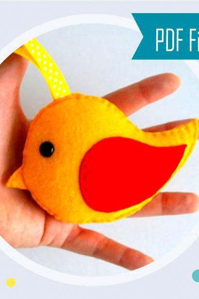 Felt bird Toy - Felt Christmas Ornament - Ready to Ship MariaPalito A729
