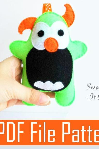 Monster Plush Sewing pattern - PDF ePATTERN MariaPalito A777