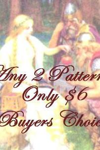 Pick any 2 knitting or crochet Patterns for 6, Buyers Choice