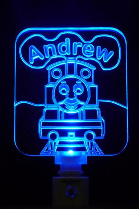 Thomas the Train Night Light, Different Colored LED Lights Available Customized with Name-FREE Shipping to US-