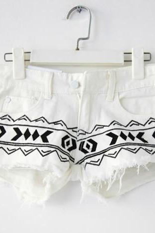 Totem low-waist denim shorts 070508