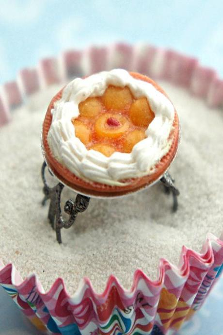 peach cobbler pie ring