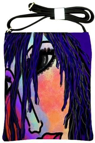 Abstract Art Handbag Purse Shoulder Bag My Original Digital Painting of a Woman