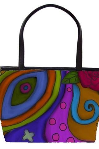 Abstract Art Handbag Purse Shoulder Bag My Original Digital Painting