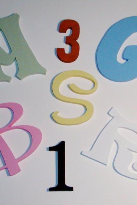 12 inch Painted Wood Letters Wooden Letters Wall Letters CUSTOM SIZES AVAILABLE