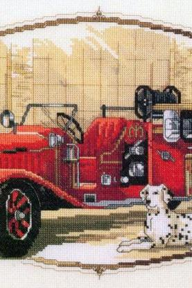 CRAFTS Classic Fire Engine Cross Stitch Pattern***LOOK***Buyers Can Download Your Pattern As Soon As They Complete The Purchase