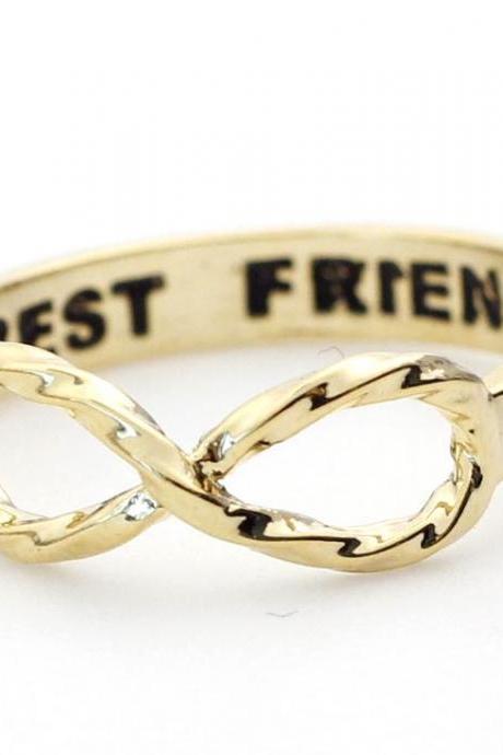 BEST FRIEND Infinity Ring in gold