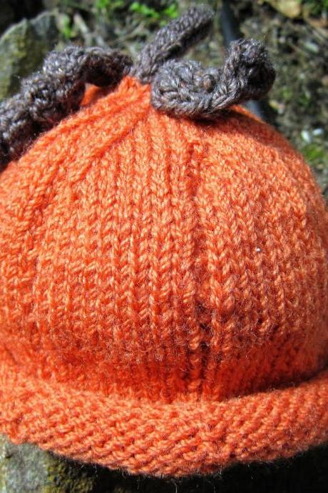 Pumpkin Hat - custom made to order 0 - 24 months