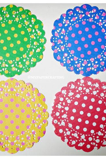 Parisian 2-colored Polka Dot Doily paper / pack