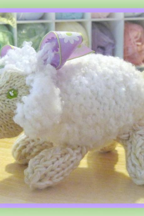 Baby Lamb Pattern Knitted