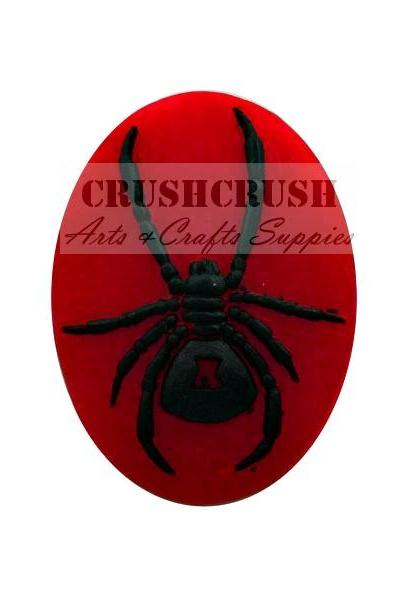 FREE SHIPPING--2pcs 29x39mm Gothic Spider Insect Cameo Cabochon Flat Back Animals F1116(C)