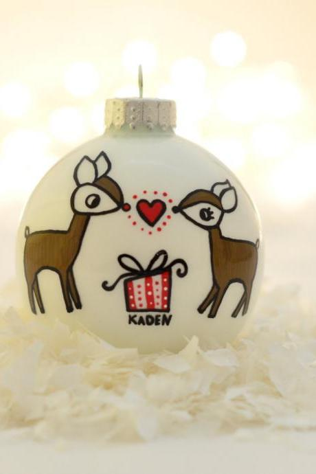 Reindeer - Pregnant/Expecting Ornament