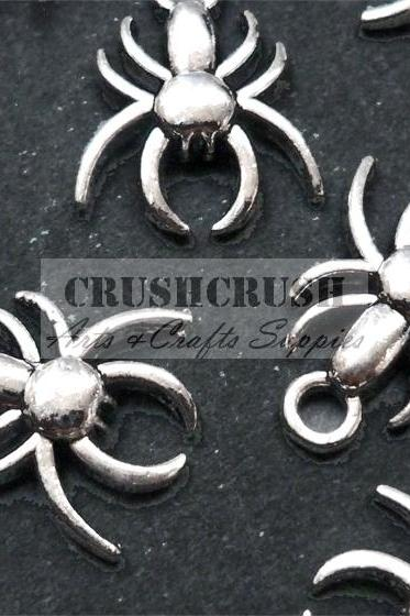25pcs Antique Silver insect Spider Gothic Animals CHARMS Pendant Poison PND-427