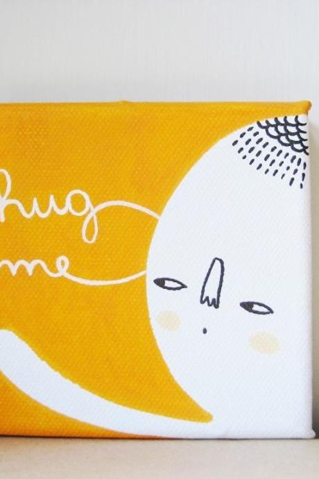 HUG ME mini painting on canvas