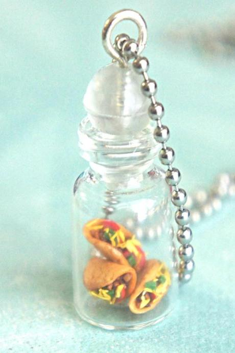 tacos in a jar necklace