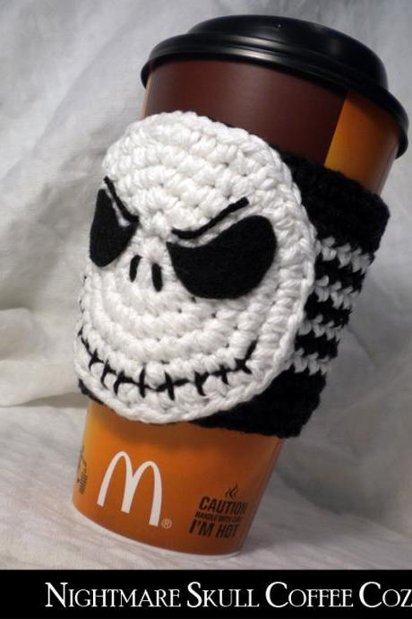 Night Skulls Coffee Cozy Pattern