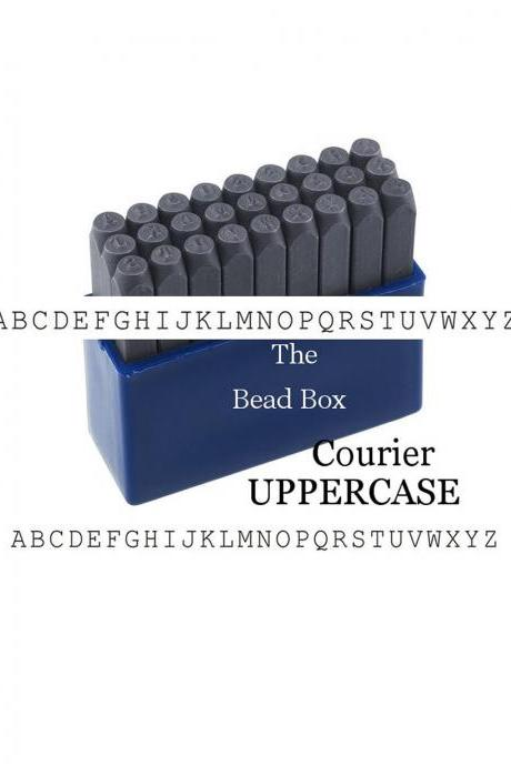 Uppercase Typewriter Metal Stamp Set