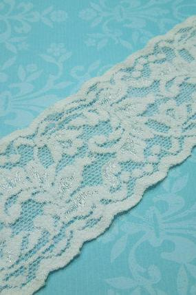 1 yard of 2 inch White Stretch elastic lace for bridal, baby headband, garter, hair accessories by MarlenesAttic - Item DD3