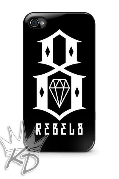 Rebel 8 iPhone 4 / 4s Black Hard Case Cover Glossy