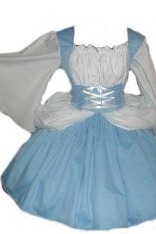 Halloween Costume Princess Sleeping Beauty Dress Blue White Womens Custom Size Plus Size Made to Measure High Quality Costume