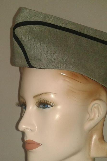 Dieseplunk Military Hat Steam Punk Steampunk Hat Army Green Vintage Style WWII Flight Cap Garrison Hat Women Men Unisex