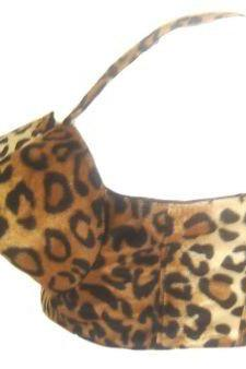 Pinup Bullet Bra Rockabilly Burlesque Bullet Cone Bra Corset Top Tiki Pin Up Leopard Faux Fur Custom Size