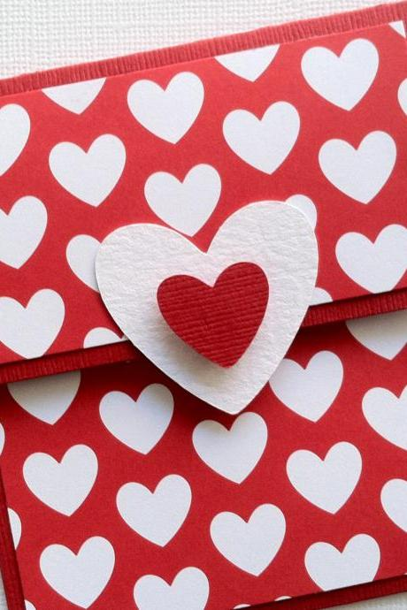 Gift Card Holder, Valentine's Day Gift Card Holder, Red Gift Card Holder