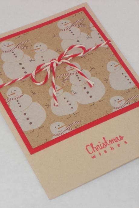 Snowman Christmas Card, Snowmen, Holiday Card