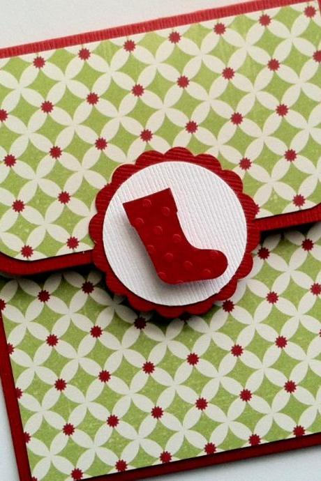 Holiday Gift Card Holder, Stocking Gift Card Holder, Christmas Gift Holder
