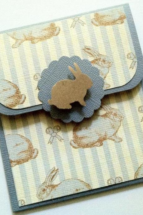 Rabbit Gift Card Holder, Baby Shower Gift Card Holder, Baby Gift Card Holder, Child Birthday Gift Card Holder