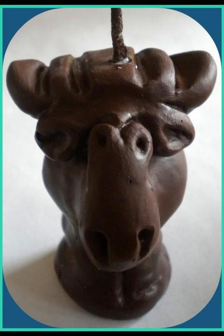 Moose Candle - 3 Dimensional - Choose Your Color and Scent