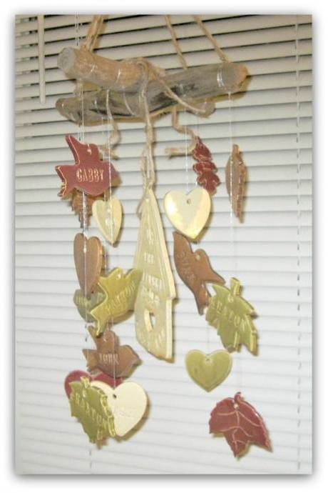 Multi Color Family Tree Birdhouse Wind Chime Personalized