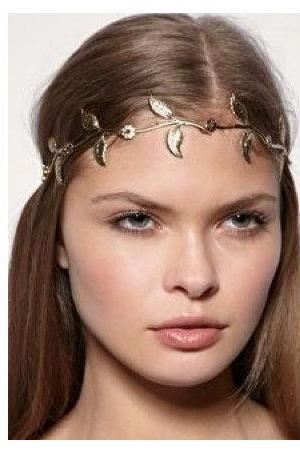 Rouelle EDEN Headpiece: Gold Leaf Grecian Headband, head piece, hair chain, hair piece, head chain