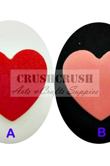3pcs One Love Heart Valentine Cameo Cabochon Flat Back Lover F1129(B)