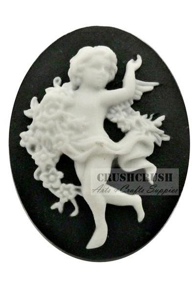 3pcs Angel Victorian Roman Greek Era Cameo Cabochon Flat Back F1131