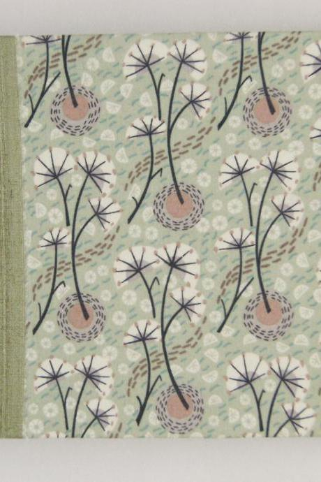 "Wedding Guest Book - Liberty Tana Lawn - Umbels and Florals - 8"" x 6"" - Ready to Ship"