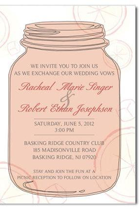 Mason Jar Custom Invitation