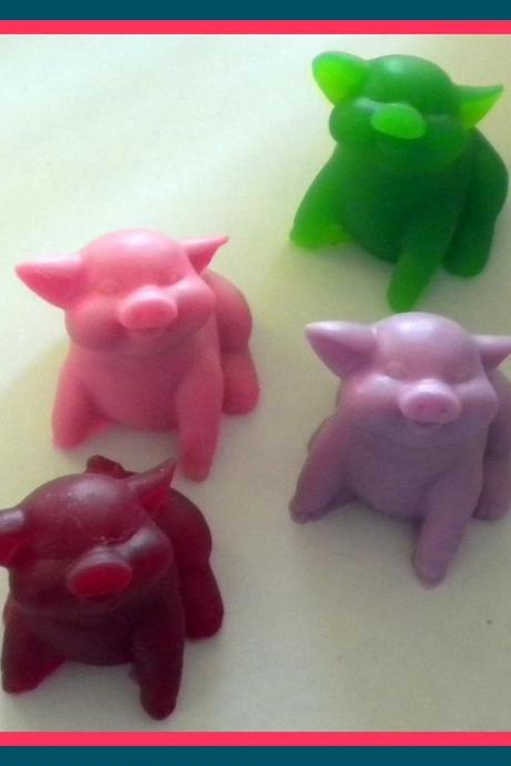 Soap - Pig Soap - Made with Goat Milk - Your Choice of Scent and Color - Party Favors