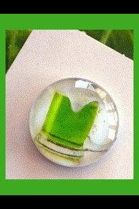 Magnet - Green Beer - 1 Inch Glass Circle - St. Patrick's Day
