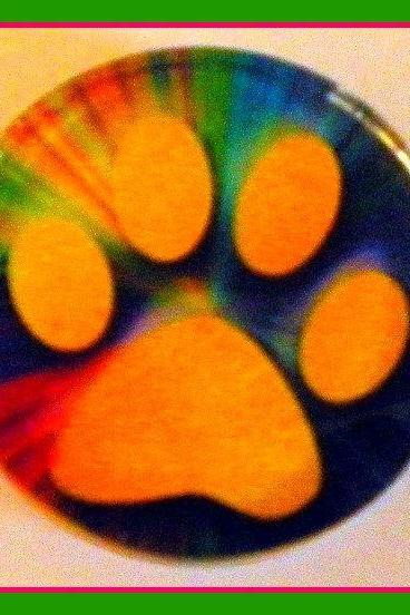 Magnet - Pawprint - Dog, Cat - 2-inch Glass Circle