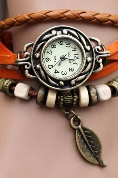Handmade Vintage Style Leather Band Watch