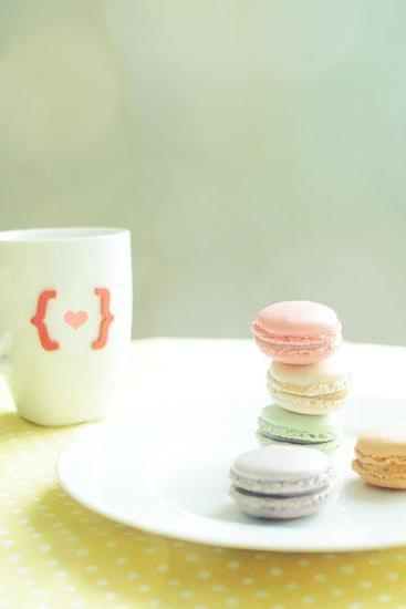 I Love French Macarons. Fine Art Food Photography. Spring Home Decor. Size 5x7'