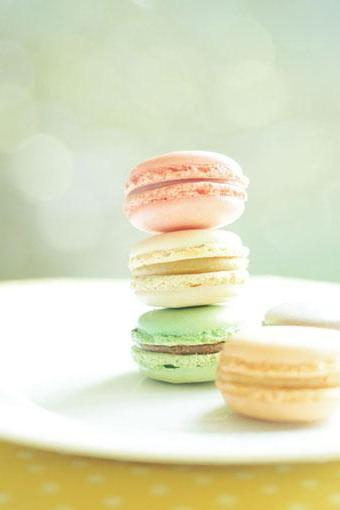 French Macaroons. Fine Art Photography. Size 5x7'