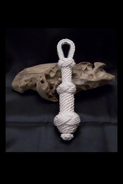 Small White Nautical Bell Rope With Star Knot Bottom